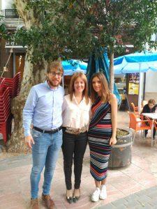 Juan Segarra i Marta Reig amb Clara Ferrando